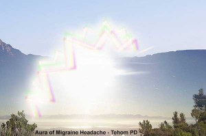 Visual disturbance of migraine