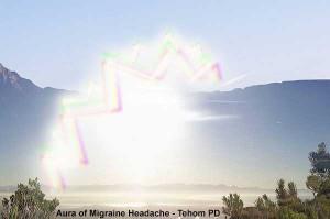 Visual disturbance of migraine