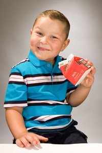 boy with milk carton