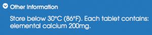 Tums calcium content