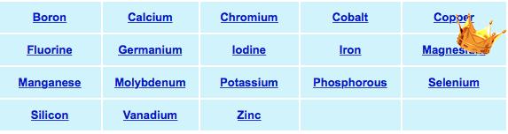 18 minerals